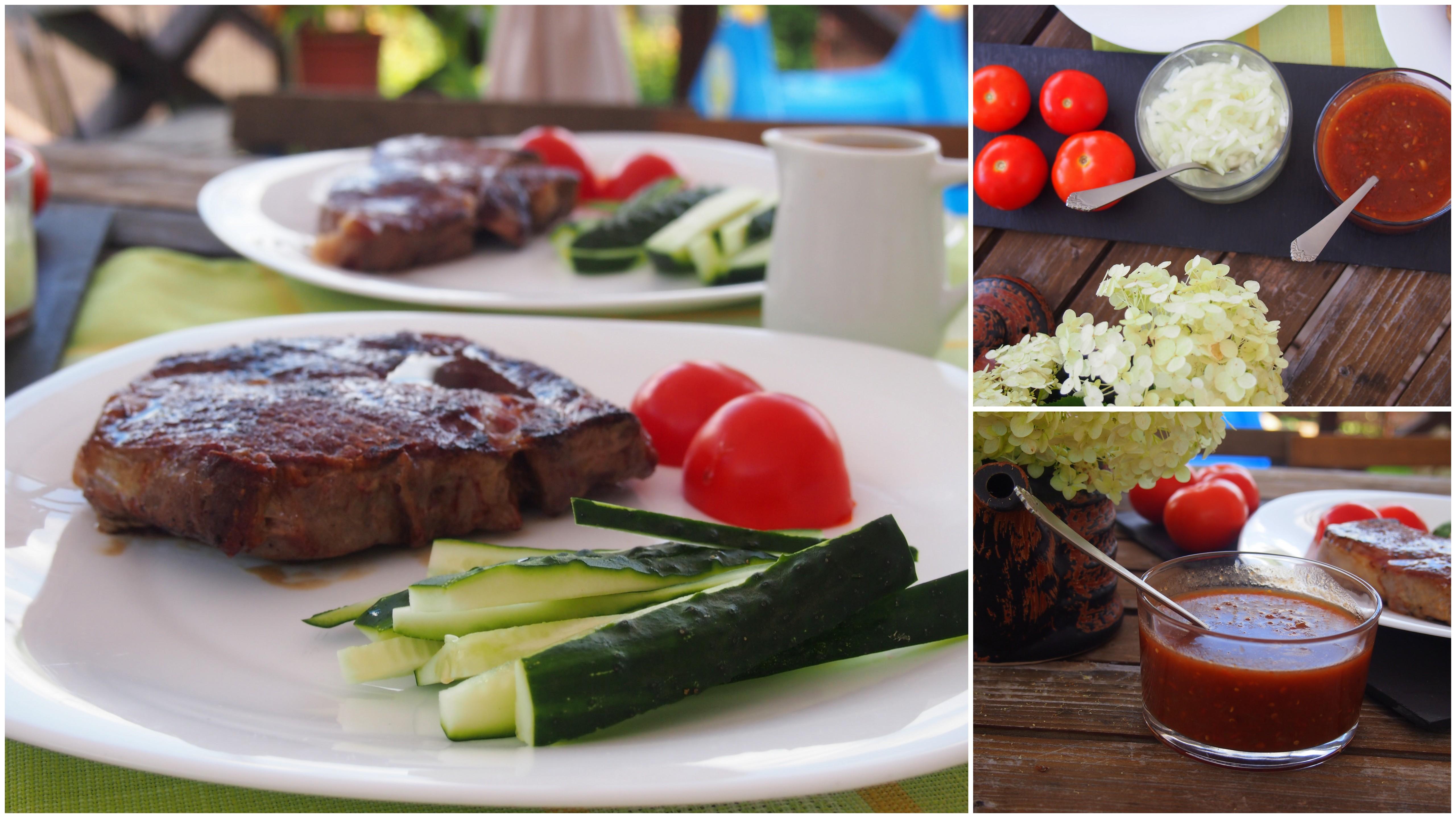 steikas su naminiu BBQ